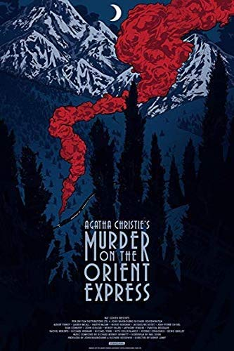 Póster Raro de la mejor sombra de Agatha Christie Murder on The Orient Express Movie 2017 Giclée Reprint 30.5 x...