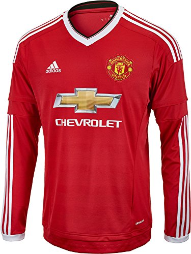 adidas Manchester United FC Home Long Sleeve Jersey-REARED (XS)