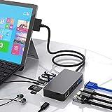 Surface Pro 4 / Pro 5 / Pro 6 USBハブドッキングステーション用のSurface Proドック、ギガビットイーサネットポート、4K HDMI VGA DPディスプレイポート、3xUSB 3.0ポート、オーディオ出力ポート、USB Cポート、SD/TF(マイクロSD)カードリーダー