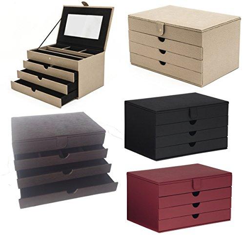 Edler stilvoller Luxus LUXOR Schmuckkoffer Schmuckkasten Schmuckschatulle B-Ware, Farbe:braun