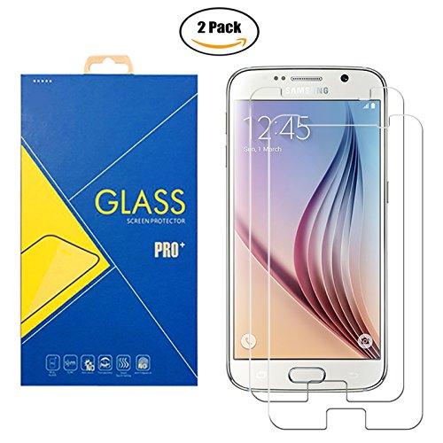 [2 Pack] Protector Cristal Vidrio Templado Samsung Galaxy S6 SM-G920 / G920F / 920 – Pantalla Antigolpes y Resistente al Rayado
