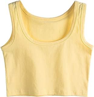 Women's Basic Solid Sleeveless Crop Top