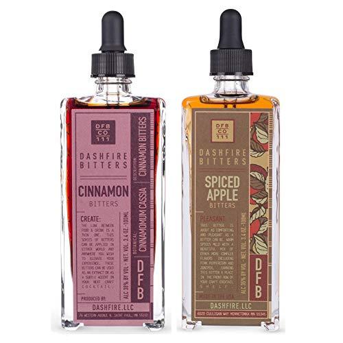 Dashfire Cocktail Bitters Variety 2 Pack - Apple & Cinnamon - 3.4 oz (100ml)