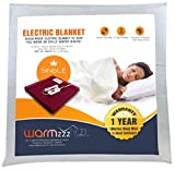 Warmzzz Wool Electric Single Bed Blanket with 4 Heat Settings (Red)