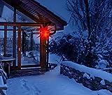 3D Leuchtstern inkl. warm-weißer LED Beleuchtung | für Innen und Außen geeignet | hängend | 7,5 m Zuleitung | ca. 57x44x48 cm (Rot) - 7