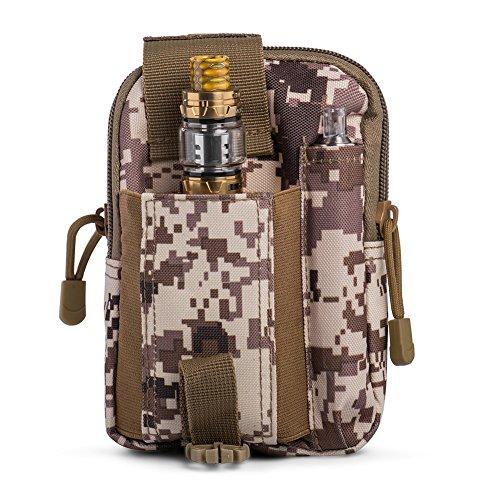 Ecigdiy Tactical Molle Tasche Kompakte EDC Mehrzweck-Dienstprogramm Gadget Gürtel Gürteltasche mit Handyholster für iPhone 6 / 6S, Camping Wandern Outdoor-Ausrüstung (Wüste digital)