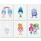 Trolls Prints - Kids Room Wall Art - Set of 6 (8...