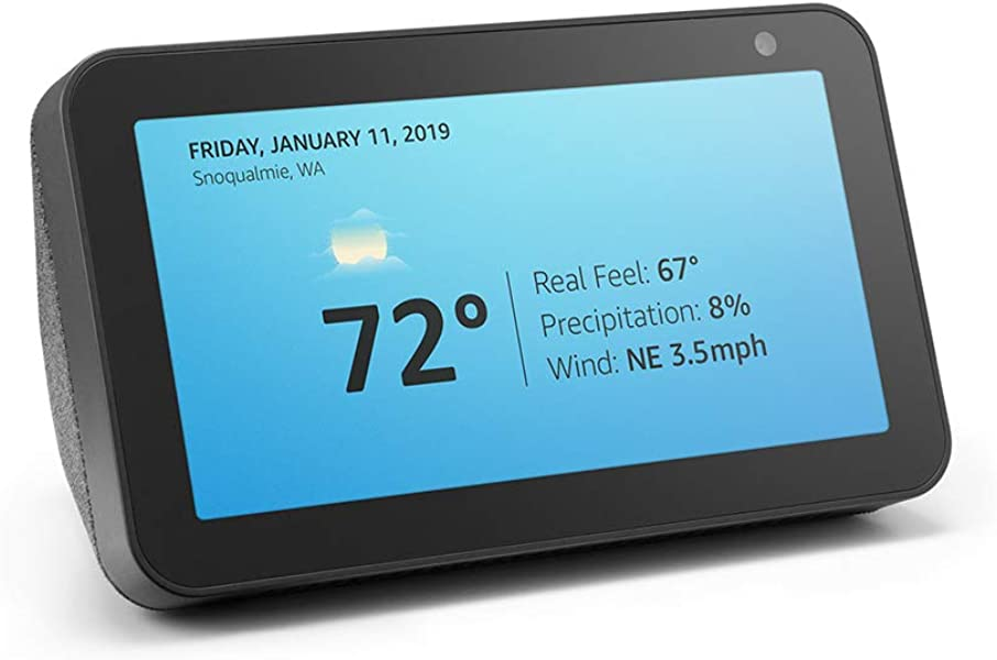 Introducing Echo Show 5 Compact Smart Display With Alexa Charcoal
