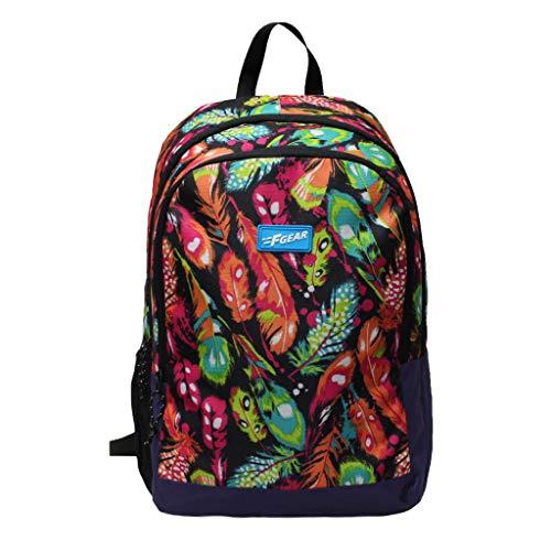 F Gear Castle Dreamcatcher Black Violet 22 Ltrs Casual Backpack (3411), one size