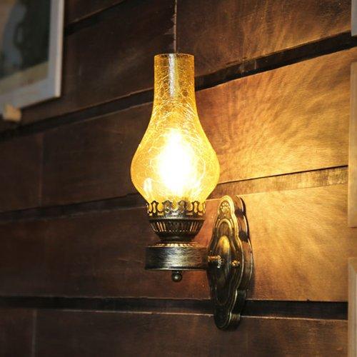 Welampa Chinesische Art Antique Brown Wandleuchte Wandleuchte Vintage Gang Bar Old Öllampe Wandleuchte Wand Strahler Kreative Retro Eisen Cafe Restaurant Schlafzimmer Wandlaterne