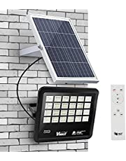 Vmax 400W LED Solar Flood Light Outdoor, 360LEDS 15000 LM for LED Solar lamp Street Floodlight, LED Solar Lights, Waterproof IP65 with Remote Control, 6500K for Backyard Garage Driveway Patio