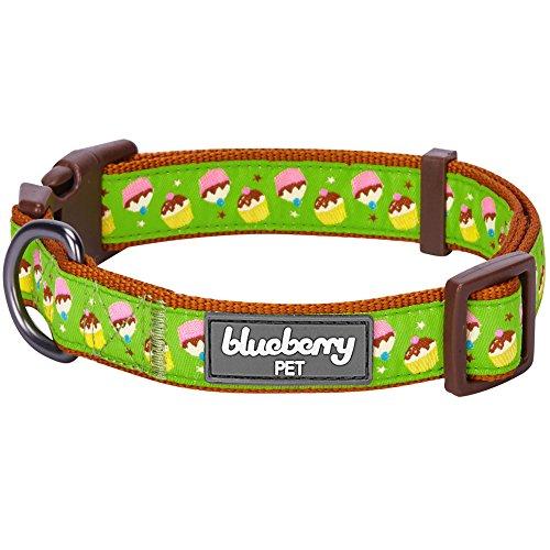 Blueberry Pet Halsbänder für Hunde 1,5 cm S Törtchen Märchenwochenende Designer Hundehalsband