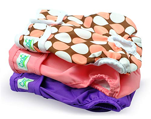 Cos2be Female Dogs Diapers Washable Reusable Wraps,Soft & Comfortable Diapers