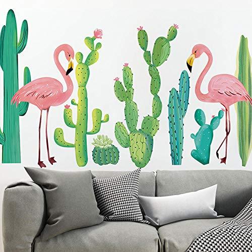 YQTYGB Pegatinas de Pared para Sala de Estar decoración de la Cama Tatuajes en casa DIY Arte Mural Vinilos Adhesivas Pared.Cactus Cuatro