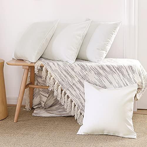 Deconovo Pillow Covers 18x18 No Insert 4 PCS Only $6.99 (Retail $19.99)