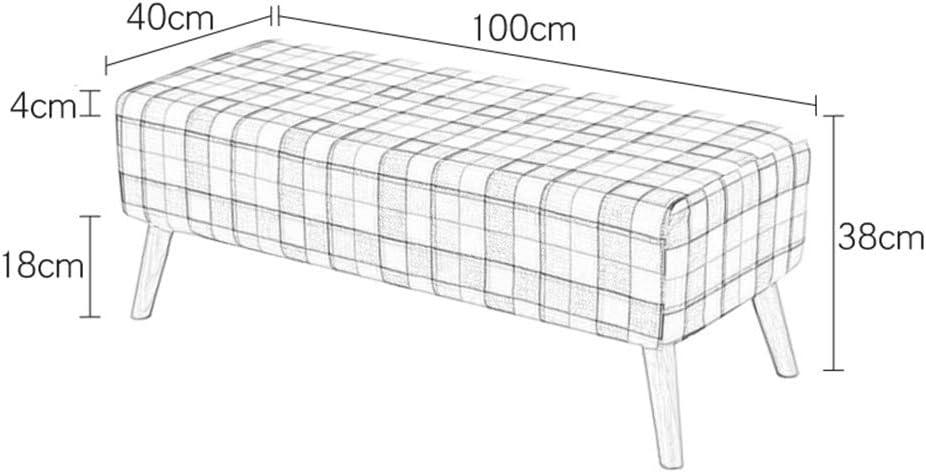 XiuHUa Tabouret à langer en tissu ottoman tabouret tabouret moderne rectangulaire repose-pieds 100 x 40 x 39 cm (couleur : vert) Marron