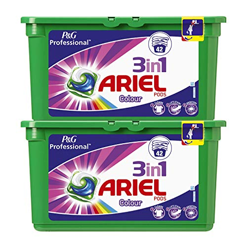 Ariel 3in1 PODs Colorwaschmittel, 2er Value Pack ( 2 x 42 Waschladungen )