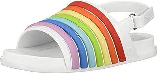 Women's Mini Beach Slide Sandal Rainbow Flat