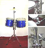 """NEW BLUE BLACK WINE COLOR 8""""&10"""" CONCERT TOMS DRUM w/HARDWARE 14"""" CYMBAL"""