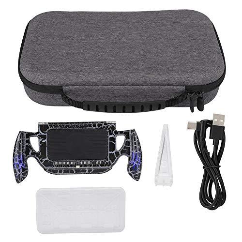Game Traveler y estuche de almacenamiento para Switch, juego de accesorios de la bolsa de almacenamiento gris de la consola de juegos, bolsa rígida de interruptor portátil con manija de consola crack