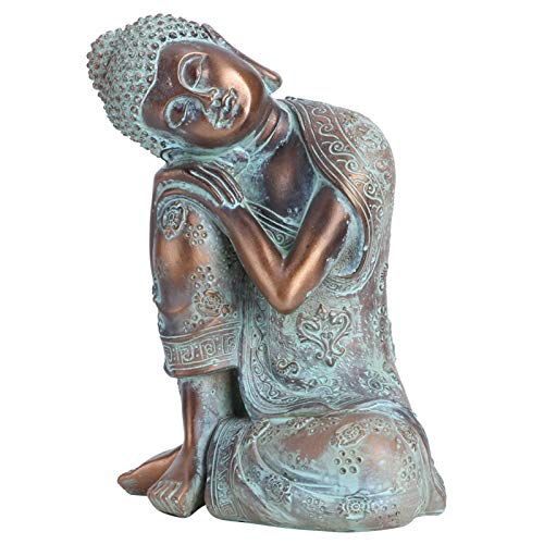 Buddha Statue Southeast Asian Style Decoration Buddha Statues Hand Painted Sculpture Meditation Decor Yoga Zen Hindu and East Asian Decor (#1)