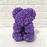 Grehod 25CM Simulated Rose Bear Doll PE Flower Valentine's Day...