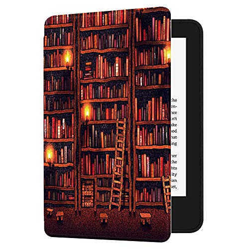 Huasiru Pintura Caso Funda para el Nuevo Kindle (10ª generación - Modelo 2019 - no es aplicable a Kindle Paperwhite o Kindle Oasis) Case Cover, Biblioteca