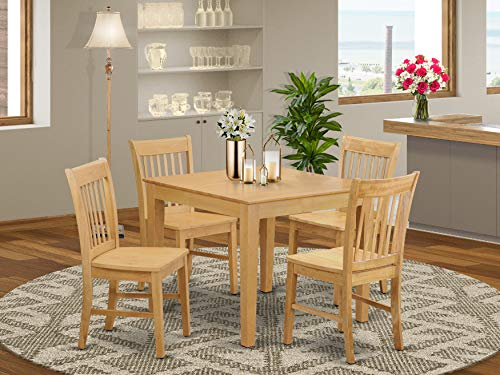 5 Pc Kitchen Table - square Table and 4 Kitchen Dining Chairs