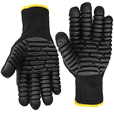 Anti Vibration Work Gloves, Shock Proof Impact Reducing Safety Gloves