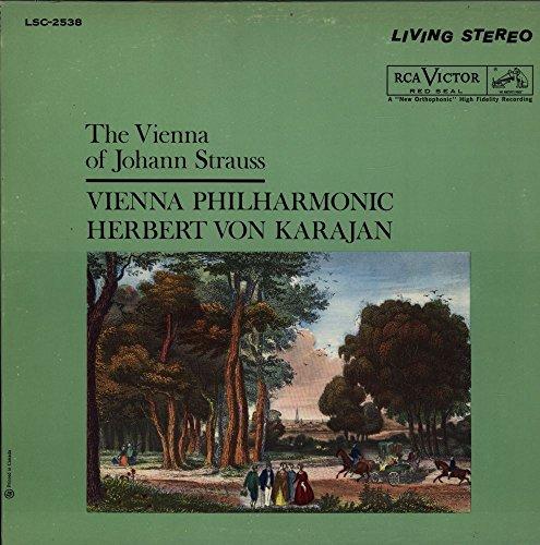 The Vienna Of Johann Strauss USA Vinyl LP von 1961 Die Fledermaus: Overture - Annen Polka, Op. 117 - Delirien Waltz - Gypsy Baron: Overture - Auf Der Jagd Polka - Tales From The Vienna Woods