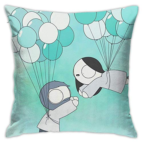 Ahdyr Fly With Me! Cushion Throw Pillow Cover Decorative Pillow Case For Sofa Bedroom 18 X 18 Inch