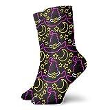 wu Calcetines deportivos con diseño de tablero de ajedrez, calcetines unisex a media pierna