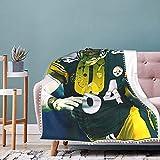 HHJSZJ Antonio Brown Pompom Fringe Blanket 3D Printed for Unisex Adult Blanket Warm for Sofa 50'X40'