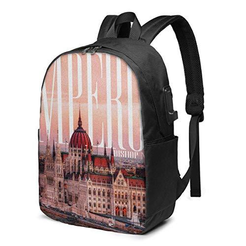 IUBBKI Bishop Nehru Emperor Business Travel Laptops Backpack,Unisex College Commuter Usb Backpack