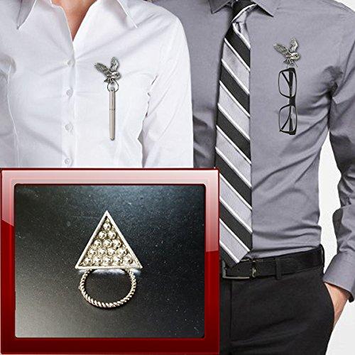 prideindetails Snooker Triangle S5 Zinn Brosche Tropfenhalter für Brillen, Stift, ID, Schmuck
