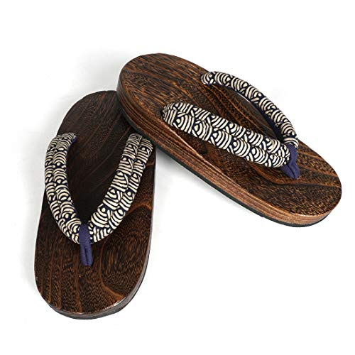 CoolChange Zapatos de Madera Tradicionales japoneses, Getta, Sandalias, Talla: Hombres 38-42
