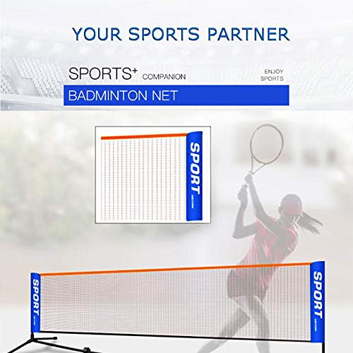 wangza Volleyball Netz für Garten Mobil Tragbares Badmintonnetz Outdoor Volleyball Trainingsnetz Langlebiges Nylon für Tennis Badminton Training Sport 3m/4m/5m/6m