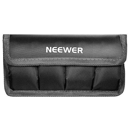 Neewer Bolsa para Batería de DSLR Compatible con AA y Lp-e6/Lp-e8/Lp-e10/Lp-e12/en-el14/en-el15/Fw50/F550, Compatible con la batería de la Nikon D800, Canon 5DMKIII, Sony A77, Nikon D300S y Muchos Más