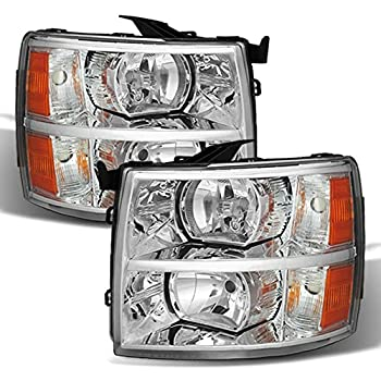 ACANII - For 2007-2013 Chevy Silverado 1500 2500 3500 Pickup Truck Headlights Headlamps Assembly Driver & Passenger Side