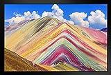 Poster Gießerei vinicunca Cusco Rainbow Mountain Peru Foto