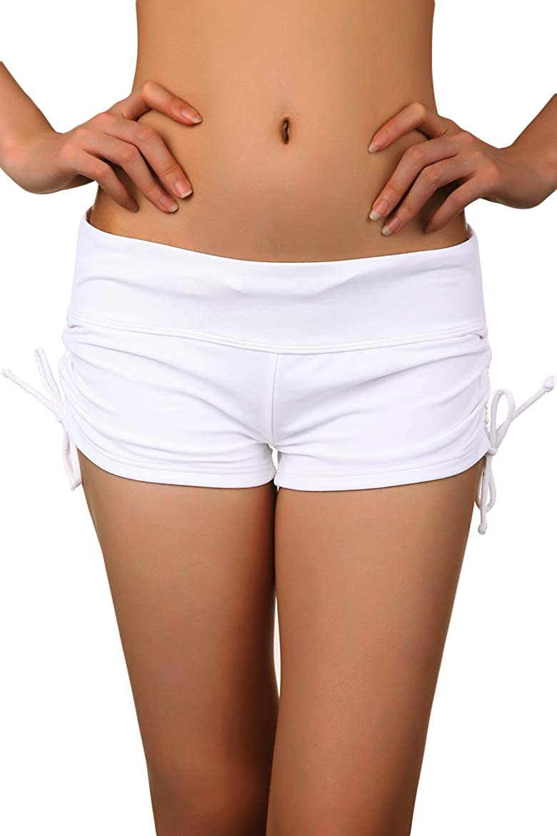 Cokar Women's At the price of surprise Lace Crochet gift Overlay Swim Shorts wit Strappy Board