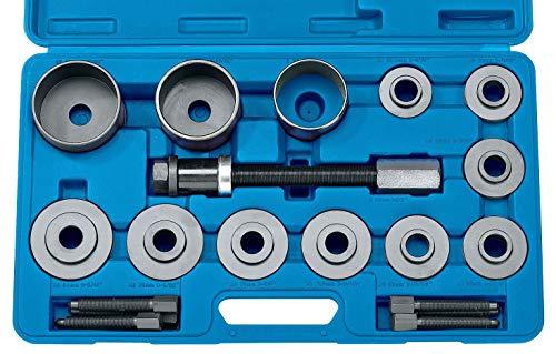 JOMAFA - Kit extractor de rodamientos y cojinetes universal, 20 piezas. (Extractor e instalador)