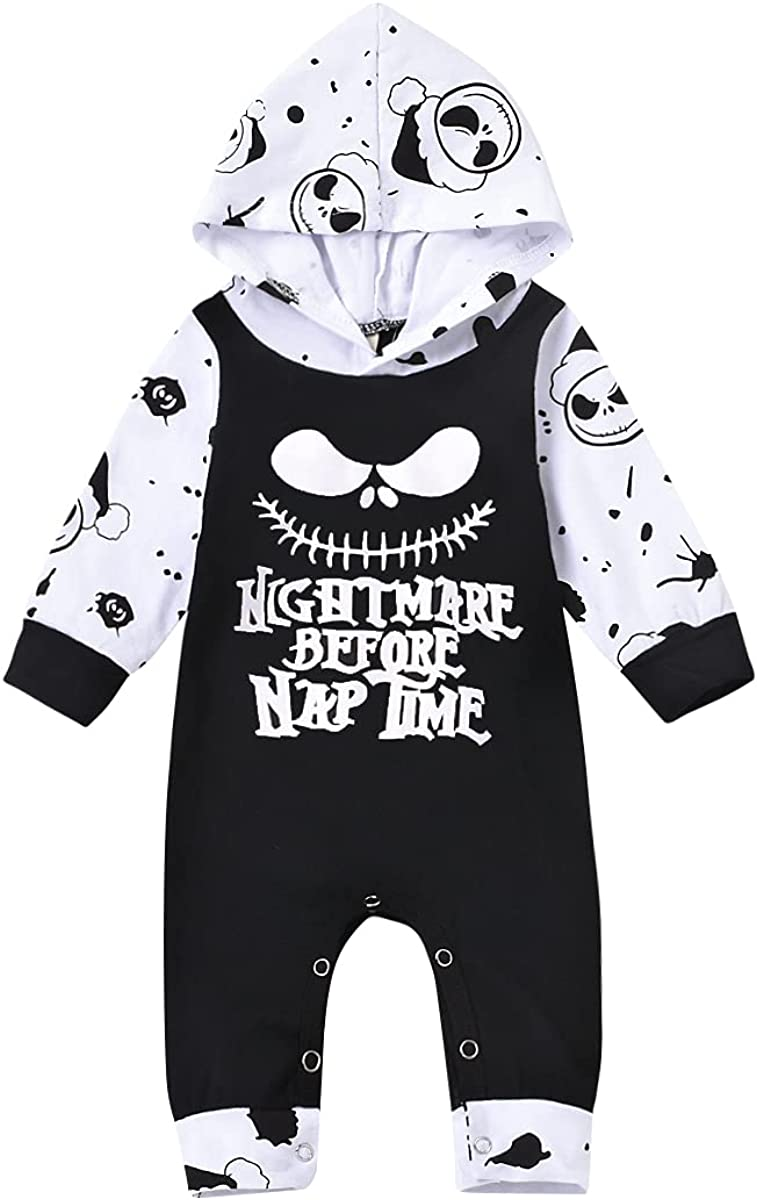 Toddler Baby Girl Boy Outfits Long Sleeve Hoodies Top Cute Romper Skull Pants Fall Clothes