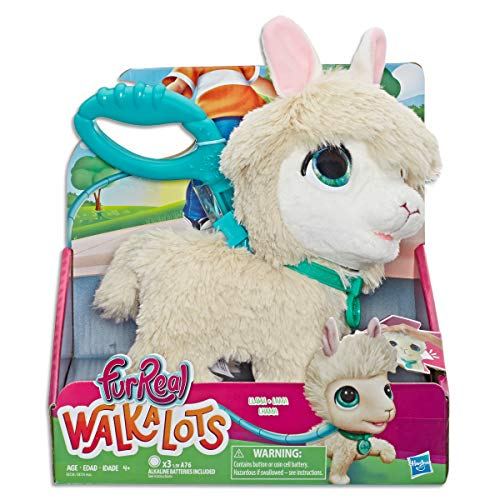 FurReal Walkalots Big Wags Llama Interactive Pet Toy, Sounds & Motion, Ages 4 & Up (E8728AS00)