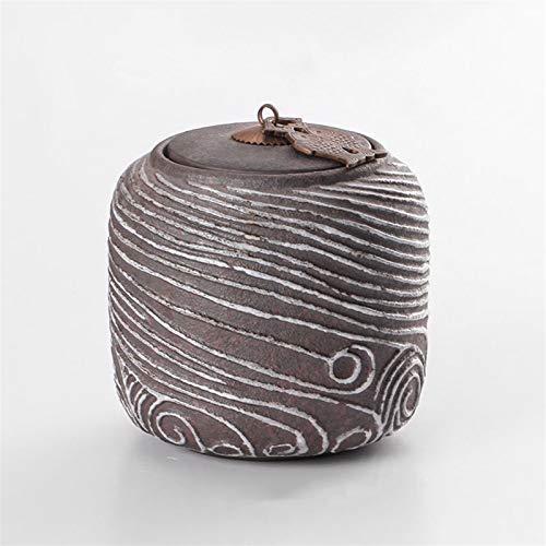 ZXJTX Caja Conmemorativa para Cenizas Perro Medio y Grande Pascua Cenizas Retro Hecho a Mano Cerámica Jarrón de cerámica Sellado Afile Afile Ashes Pet Memory Box Urna de cremación