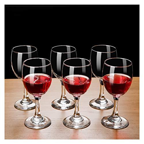 AHAI YU Cristal Premium - Cata de vinos Copas de Vino Baratas, Conjunto de 6 Copas de Vino Tinto, Vino Adecuado para Toda la ocasión, lavavajillas y Caja de Seguridad de microondas Hombre