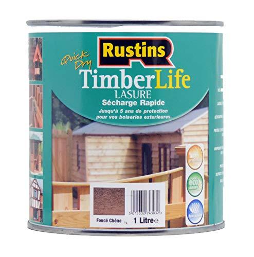Rustin's Timberlife - Lasure pour bois - extérieure - UV et 5 ANS Protection - Chêne foncé - 12m²/L - 1 Litre (TLDO1000FR)