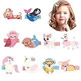 VCOSTORE 12 Stück Glitter Tier Haarspangen, Bling Sparkly Animals Haarnadel Haarschmuck für Baby