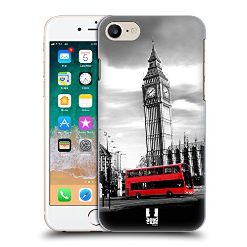 Head Case Designs Big Ben Torre Dell'orologio Londra Il Meglio di Ogni Luogo Set 2 Cover Dura per Parte Posteriore Compatibile con Apple iPhone 7 / iPhone 8 / iPhone SE 2020