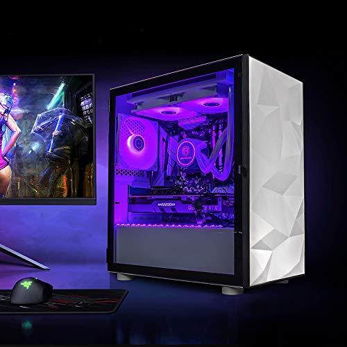 GameMachines Crystal - Micro ATX Gaming PC - Intel® Core™ i7 10700KF - Wasserkühlung - NVIDIA GeForce RTX 3060-500GB SSD - 2 TB Festplatte - 16GB RGB DDR4 - WLAN - Windows 10 Pro